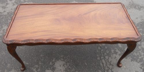 Long Mahogany Coffee Table